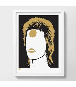 Bold & Noble Zeefdruk Bowie | Ziggy Stardust