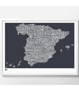 Spain Screen Print