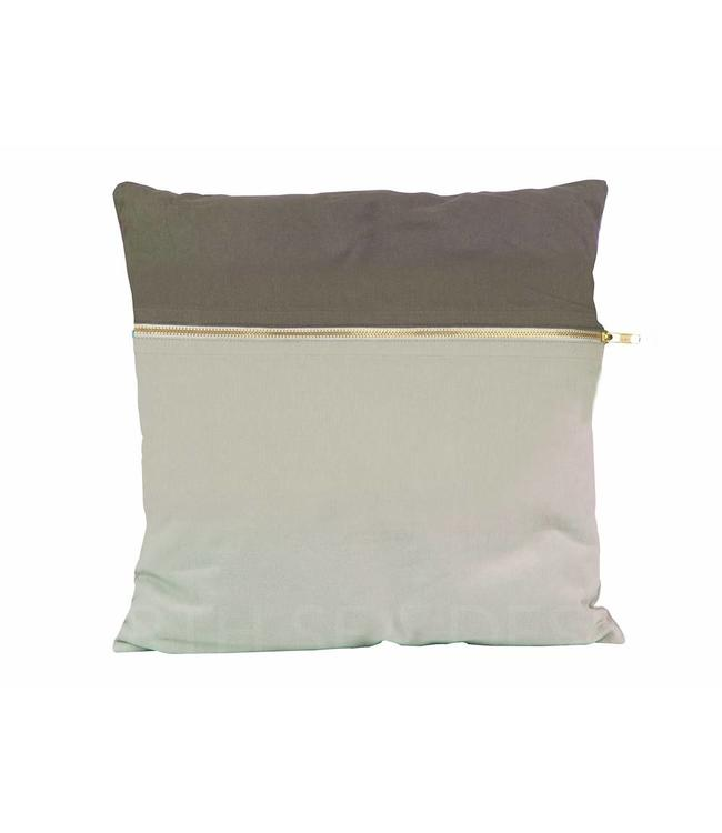 Present Time Cushion Duo Tone | Square | Grey