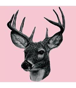 Tile Junkie Set of 4 Tile Stickers Deer   Transparent
