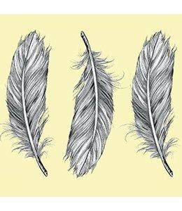 Tile Junkie Set van 4 Tegelstickers Feathers