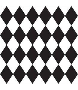 Tile Junkie Set of 4 Tile Stickers Harlequin pattern