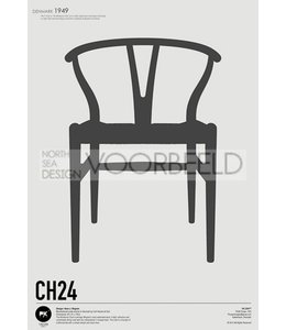 Pk Posters™ Poster Wishbone Chair