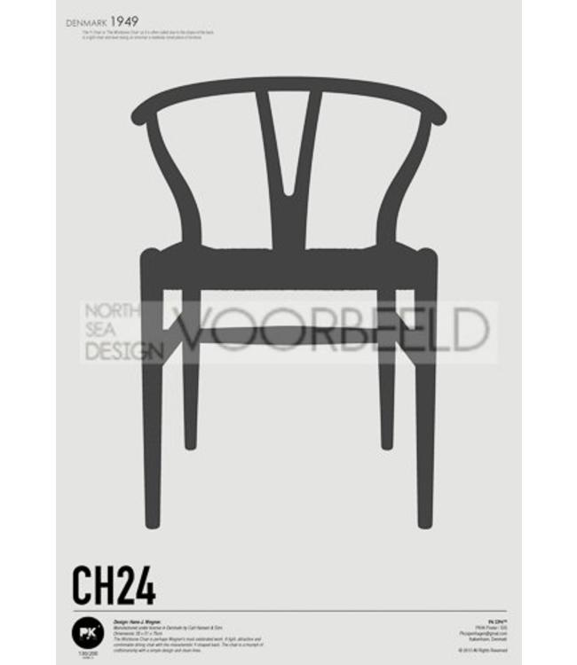 Pk Posters™ Poster Wishbone Chair | CH24