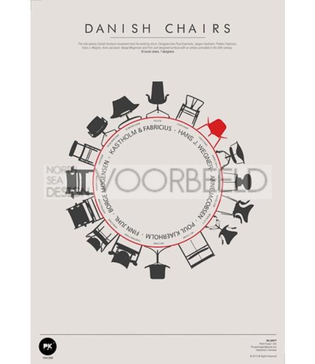 Pk Posters™ Poster | Danish Chairs
