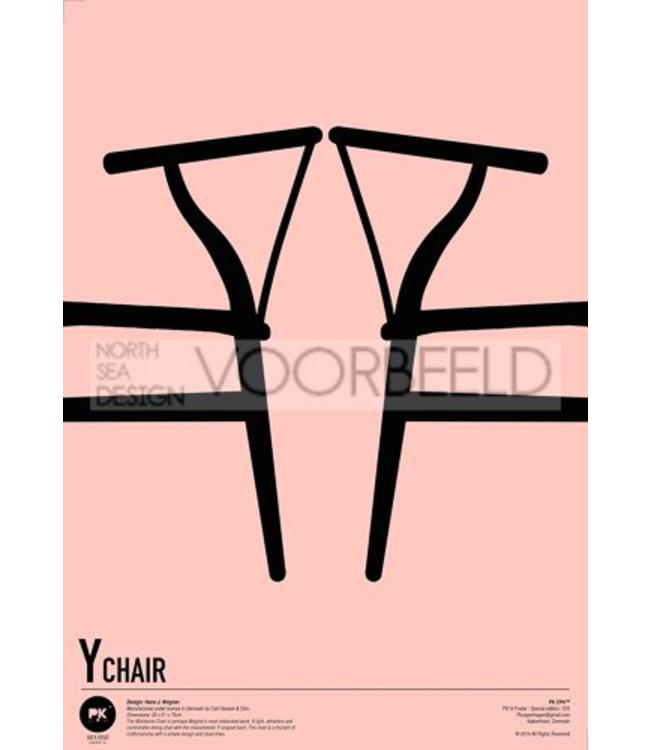 Pk Posters™ Poster PK19  in lijst Wishbone Chairs