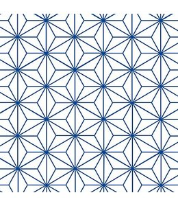 Tile Junkie Tegelsticker Star Pattern blue