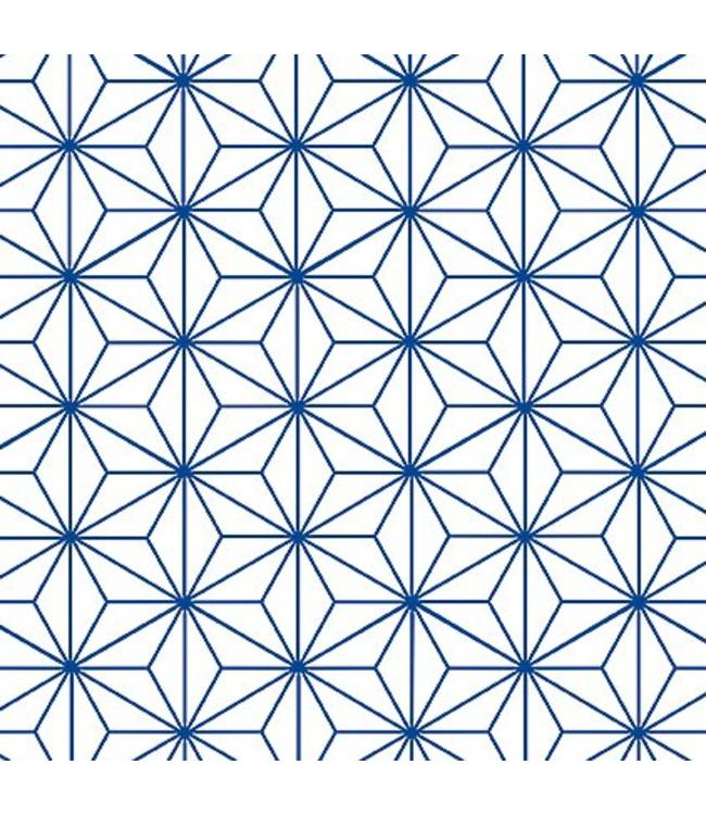 Tile Junkie Tegelsticker Star Pattern blue Transparant