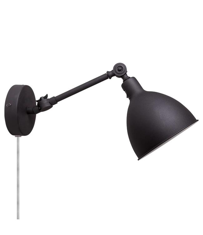By Rydéns Bazar wandlamp Mini mat zwart