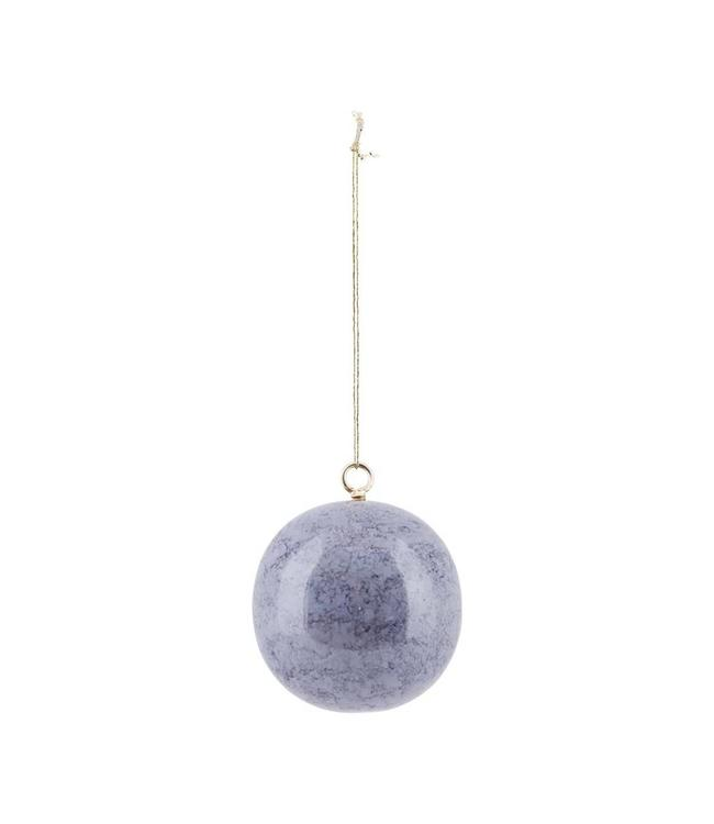 House Doctor Christmas Ornament Effects | Marble Grey | 6cm