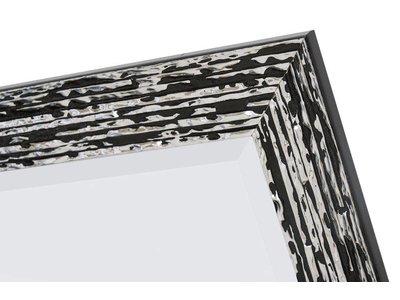 Toscana - schwarzsilberner Designspiegel