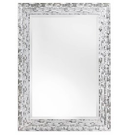 Toscane - moderner weißem Spiegel mit Silber