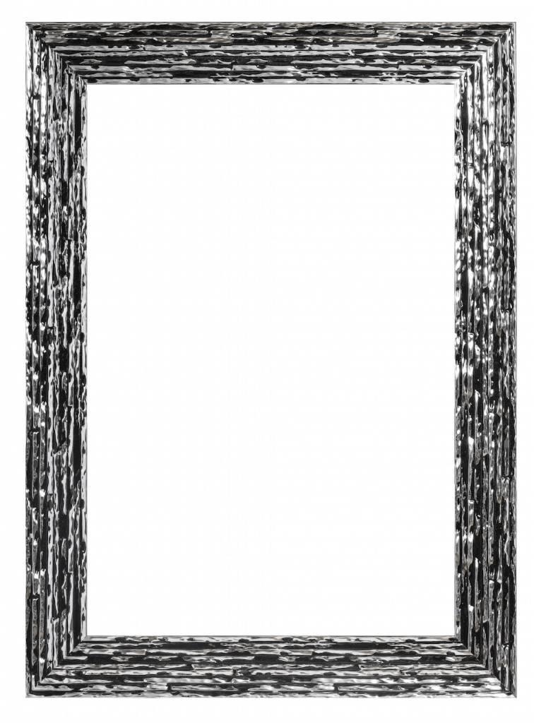 Toscane - Bilderrahmen, Schwarz mit Silber