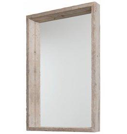 Wood - Spiegel mit Schattenfugenrahmen aus Gerüstholz