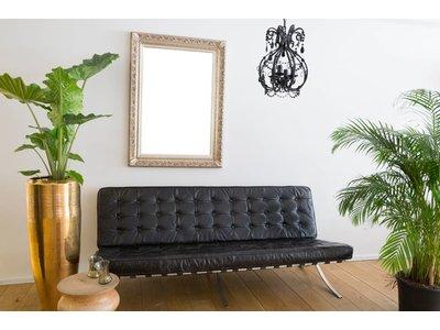 Savona - silberner Barock-Rahmen mit Ornament