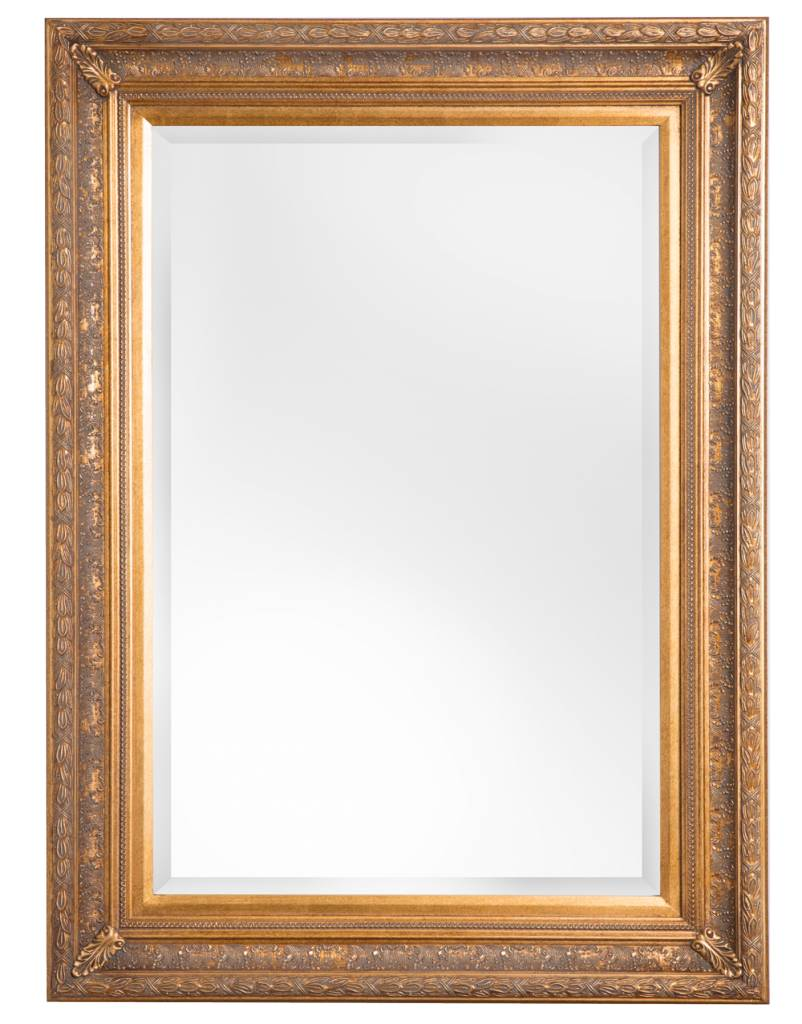 Antibes - Spiegel mit goldenem Barock-Holzrahmen