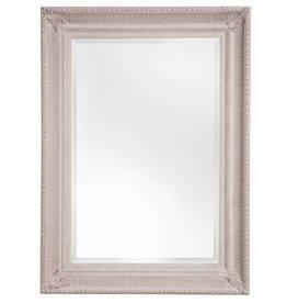 Bari - Atmosphäre schaffender Spiegel mit gebrochenem weißen Rahmen