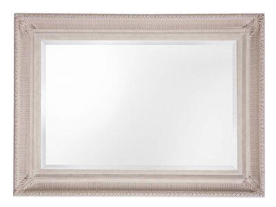 Spiegel mit gebrochenem weißen Rahmen