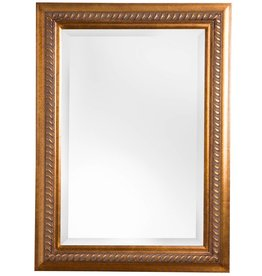 Ferrara - Spiegel mit goldbraunem Rahmen