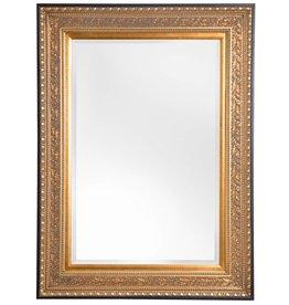 La Spezia - Spiegel mit luxuriösem goldenem Rahmen und schwarzem Rand