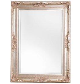 Nice - Atmosphäre schaffender Spiegel mit silbernem Barock-Rahmen