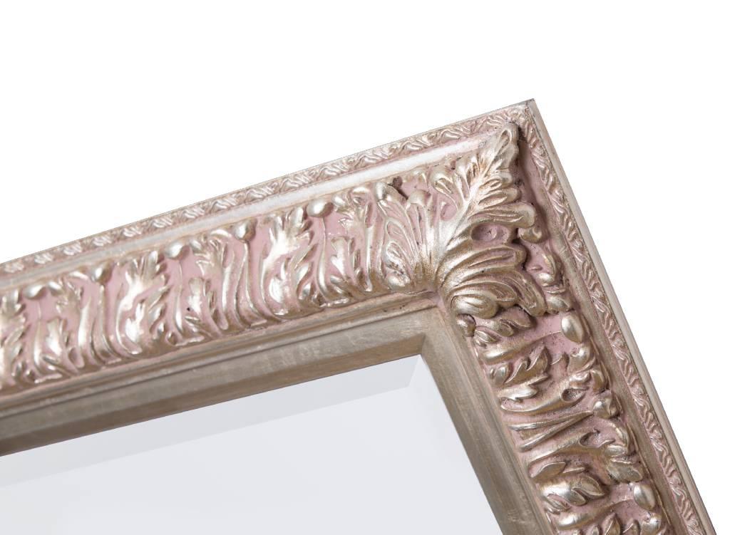 Zaragoza - Spiegel mit silbernem Barock-Rahmen
