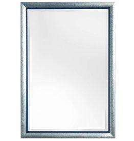 Atessa - Spiegel mit modernem silberblauem Rahmen