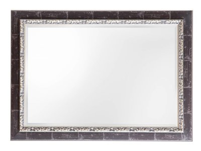 Bosa Spiegel mit silberbraunem Rahmen