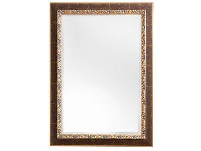Spiegel mit goldbraunem Rahmen