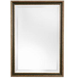 Pavia - Spiegel mit goldenem und dunkelgrünem Rahmen