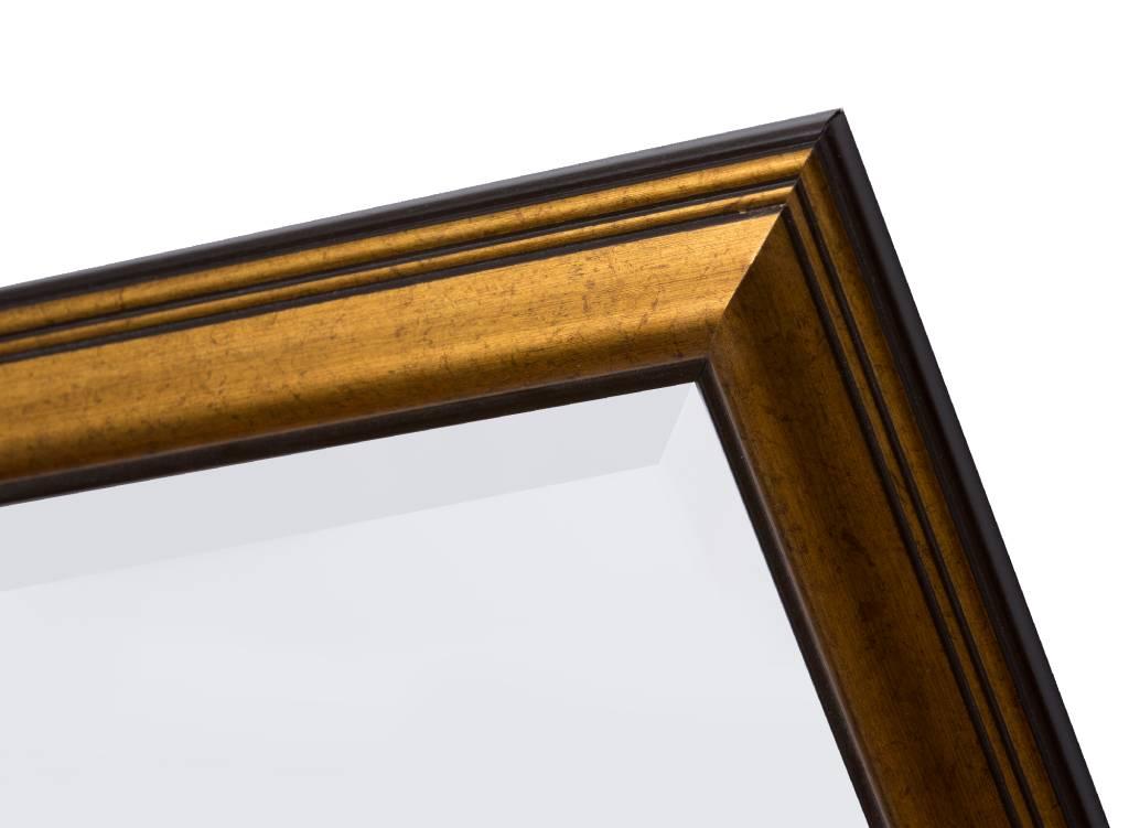 Rieti - Spiegel mit braungoldenem Rahmen