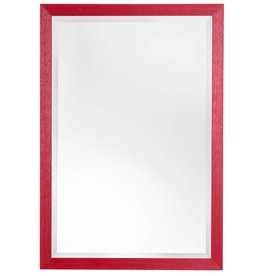 Le Vigan - Atmosphäre schaffender preiswerter Spiegel mit rotem Rahmen