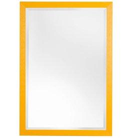 Roses - Atmosphäre schaffender preiswerter Spiegel mit gelbem Rahmen