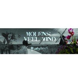 Mills Catching Wind - Kunstdruck - Iris van der Meer