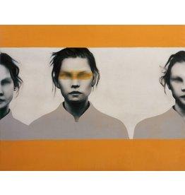 orange Frauen - Fotokunst - Kunstdruck auf Leinwand