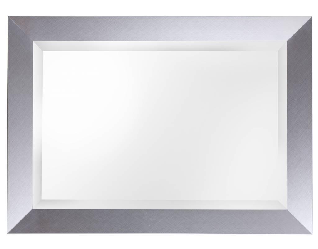 Spiegel mit modernem silberem Rahmen