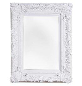Palermo - Spiegel mit weißem Barock-Rahmen