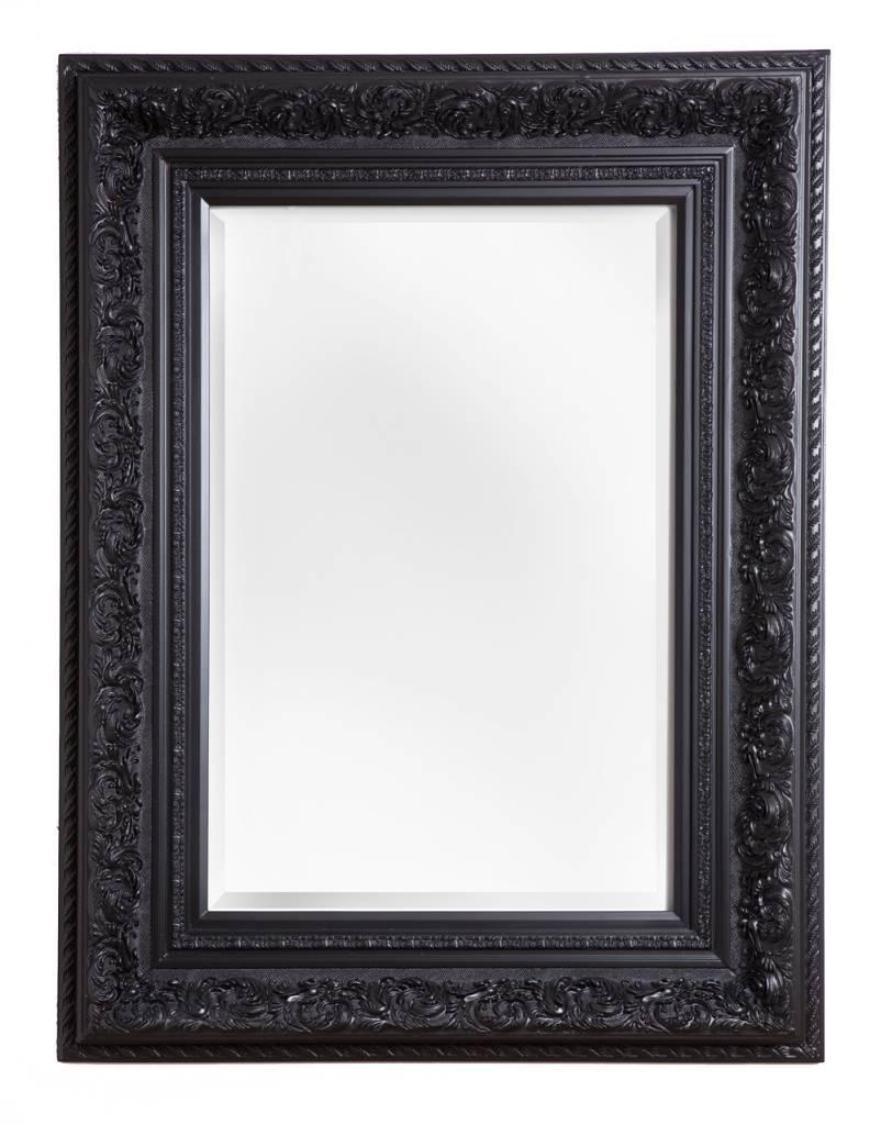 Genova - Spiegel mit schwarzem Barockrahmen