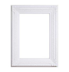 Frejus - weißer Barock-Rahmen