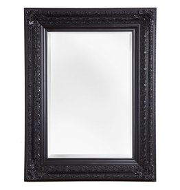 Frejus - Spiegel mit schwarzem Barock-Rahmen