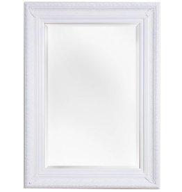 Antibes - Spiegel mit weißem Barock-Holzrahmen