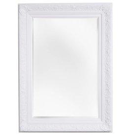 Turin - Atmosphäre schaffender Spiegel mit weißem Barock-Rahmen