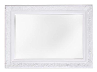 Turin - attraktiver Spiegel mit barockem weißen Rahmen