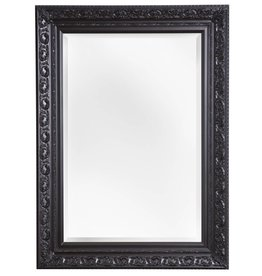 Savona - Spiegel mit schwarzem Barock-Rahmen