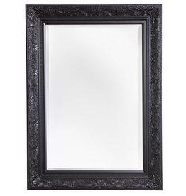 Turin - Atmosphäre schaffender Spiegel mit schwarzem Barock-Rahmen