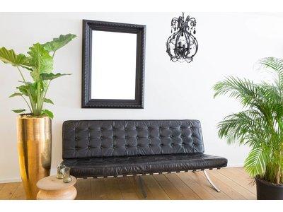 Vigo schwarzer Rahmen mit Ornament