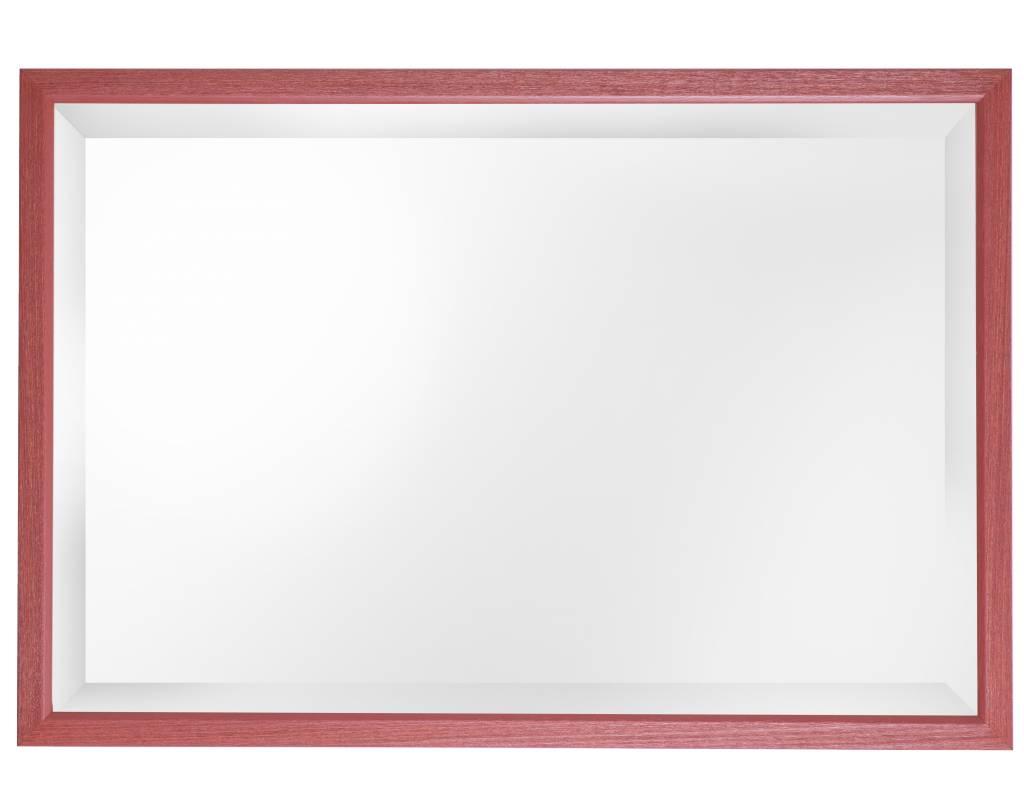 Lille - Spiegel mit schmalem roten Rahmen