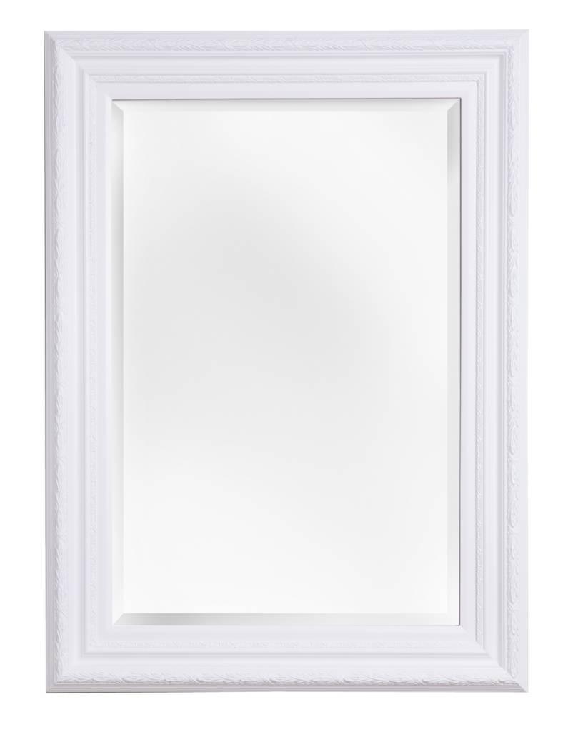 Montepellier Spiegel mit weißem Rahmen