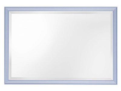Spiegel mit blauem Rahmen