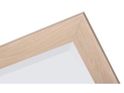 Sardinia Grande - Spiegel mit breitem Rahmen aus hellem Holz